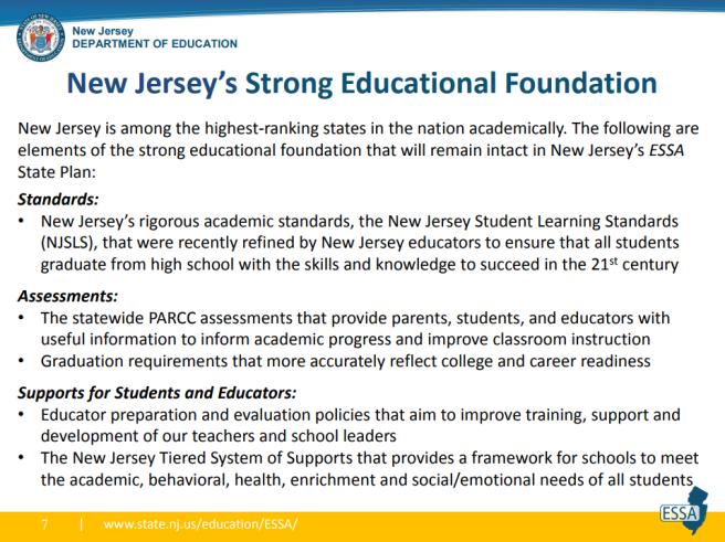 New Jersey ESSA plan