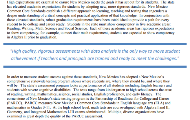 New Mexico CCSS snip